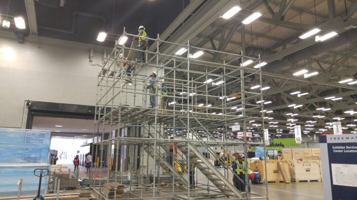 Scaffold for Tezzaron booth at SC15