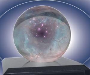 crystal ball containing stars
