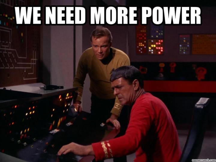 Photo: Kirk & Scotty need more power