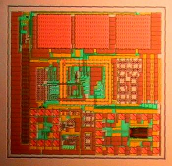 Micrograph: world's first working 3D-IC