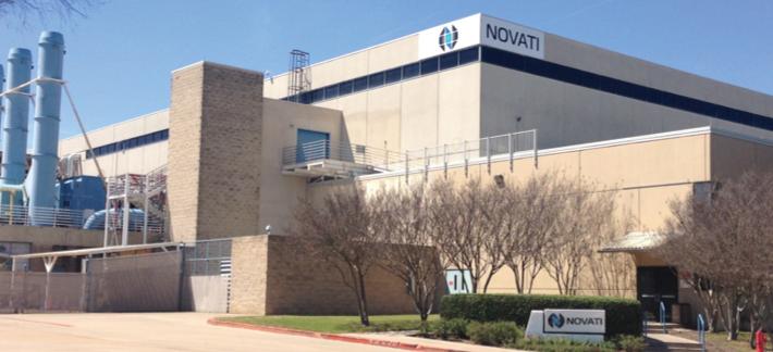 Exterior of Novati facility in Austin